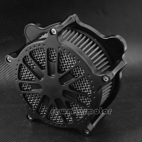 Dots Ring Air Filter Gray Cleaner Intake Fit For Harley Touring 08-16 Softail 16