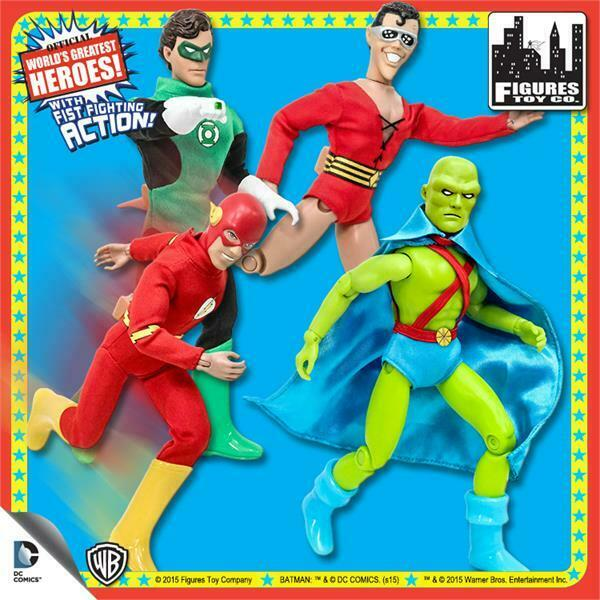 SUPER POWERS; 8 INCH FIGURES  POLYBAG,NEW    FLASH,LANTERN, MANHUNTER, PLASTICMAN e8b2f0