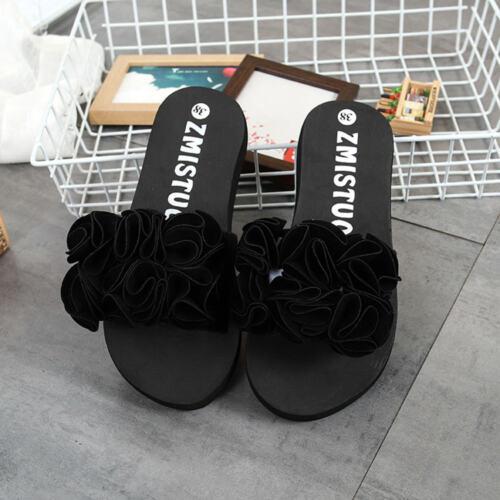 Women Casual Flower Summer Sandals Slipper Indoor Outdoor Flip-flops Beach Shoes