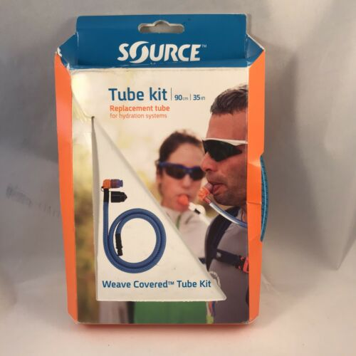 """Source Weave Covered Tube Kit 90 cm 35/"""" Blue replacement for hydration systems"""