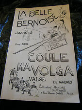 Partition La belle bernoise Fred Ariel Coule ma Volga de Maurizi 1954