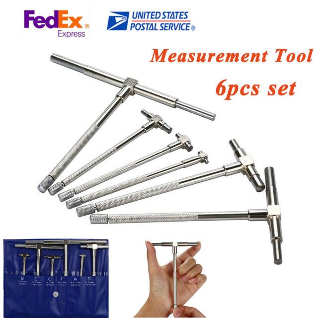 6Pcs Set 5//16/'/' 6/'/' Precision Telescopic Gage Micrometer Bore Measurement  Tool