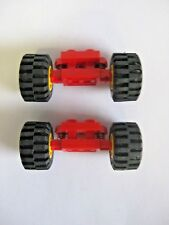 LEGO Set of  2  NEW 2 X 2 Spring Wheel Holders Red Town Off-Road 1990 6-12