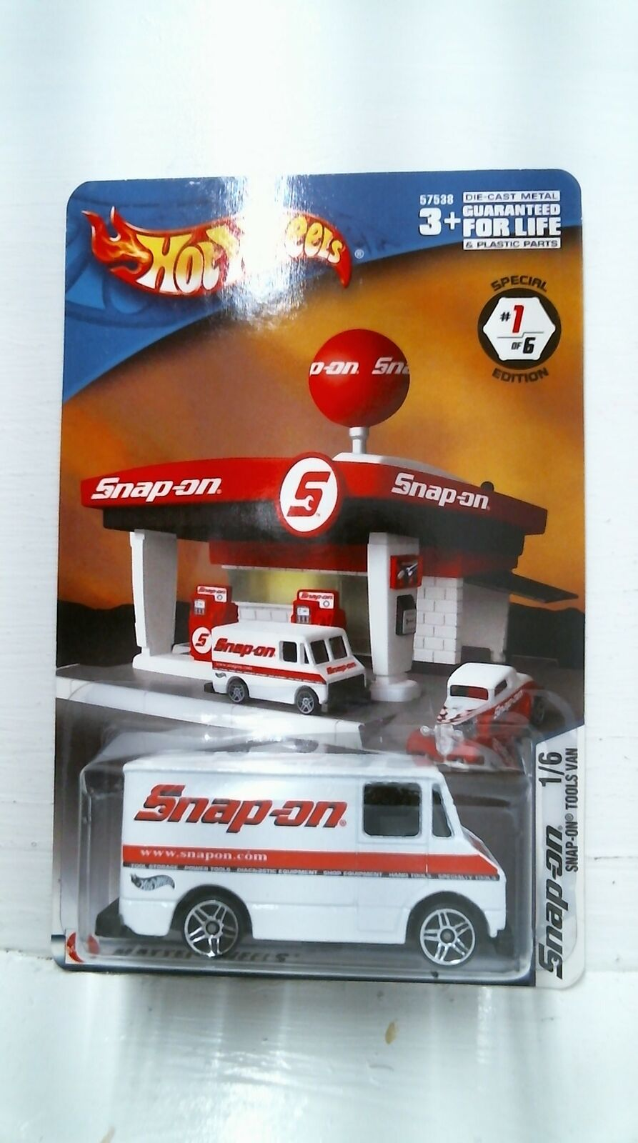 2003 HOTWHEELS Snap-on Tools Van Special Edition 1 6 - Blanc