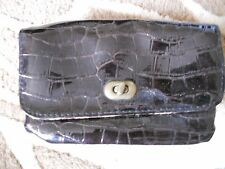 Atmosphere - Brown Little Faux Croc, Sythtic Wallet Purse Size Small