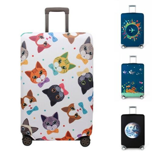 """18/""""-32/"""" Useful Travel Luggage Cover Dustproof Suitcase Protector Skin Case GA"""