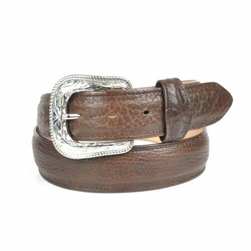 Gavel Men/'s Bullhide Full Grain Genuine Leather Belt and Western Buckle Brown