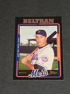 Carlos Beltran New York Mets 2005 Topps Black #413 26/54