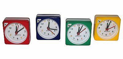 Mini Alarm Analoguhr Quarz Uhr Wecker Reisewecker Reiseuhr Reise Snooze Wecken Talrijke In Verscheidenheid