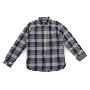 Details zu TOMMY HILFIGER Denim Herren Hemd M 50 Kariert Shirt langarm Oberteil NEU