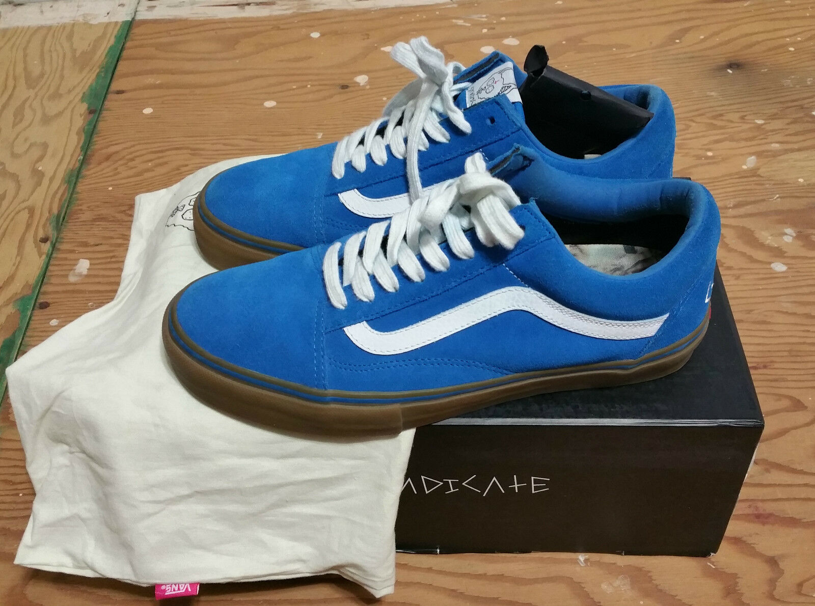 VANS X Golf Wang X Syndicate Old Skool Blue Gum Size 8 supreme wtaps wolf gang
