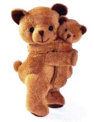 Plüschbär mit Baby Teddymama ca.16 cm braun