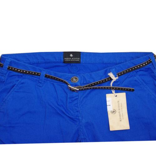 MAISON SCOTCH Chino SKINNY FIT stretch bleu dur femme taille 29