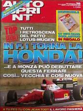 Autosprint 36 1993 Patto Lotus Mugen - In F1 torna HONDA - Jean Alesi [SC.50]