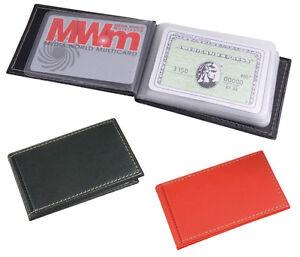 Porta carte di credito tessere bancomat 10 posti ecopelle 11x6,5x1 cm 2 colori