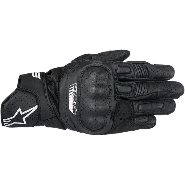 Large Alpinestars SP-5 Leather Gloves Black