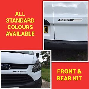 Details About Ford Transit Custom M Sport Front Rear Sticker Kit Decals Stickers Graphics