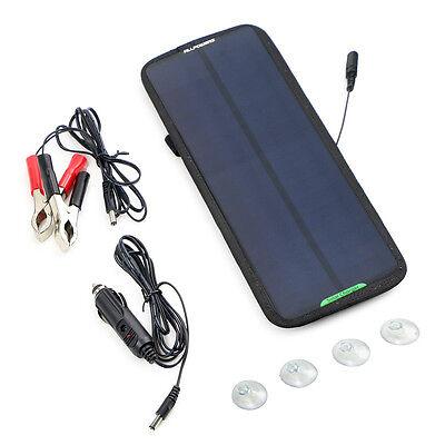 18V 7.5 Watt Solarpanel Sunpower Solarmodul Ladegerät für Auto KFZ Motorrad PKW