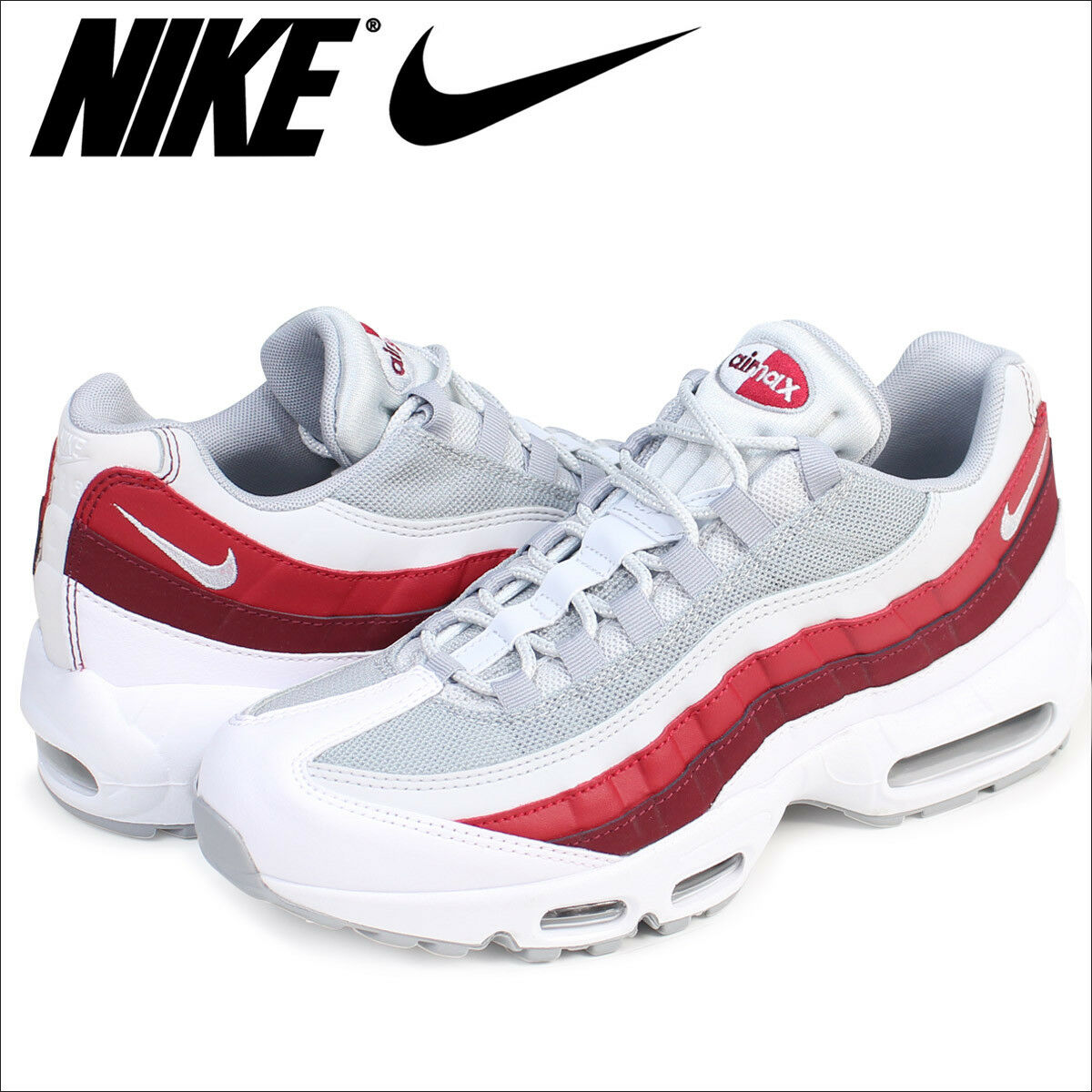 promo code 8cea5 7f5ef ... real nike max air max nike 95 essential 749766 103 white wolf grey red  japan uomo