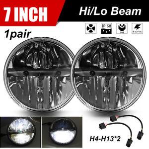 For-Land-Rover-Defender-LED-Headlights-Headlamp-RHD-90-110-Hi-Lo-Beam-7-034-90W