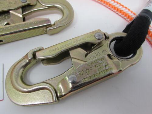 """ARBORIST SPYDER CLIMB RIGHT 1//2/"""" 4FT-7FT 16 STRAND ROPE LANYARD DBL LOCK ANSI"""