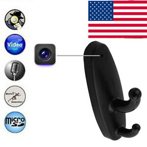Human Motion Detection Spy Camera Clothes Hook Hidden Security Cam DVR Camcorder