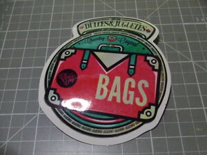 BAGS-PINK-GLOSSY-Sticker-Decal-Bumper-Bomb-Skateboard-Laptop-NEW
