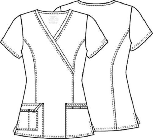 Cherokee Workwear Scrubs Women/'s V Neck Top 4728 PUNW Pumpkin Free Shipping
