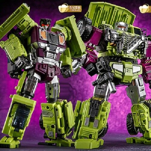 Transformation JINBAO Bulider Oversized Devastator Figure Set A+B+C In STOCK