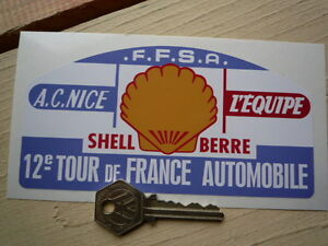 Tour De FRANCE 12th French classic  rally car 150mm sticker