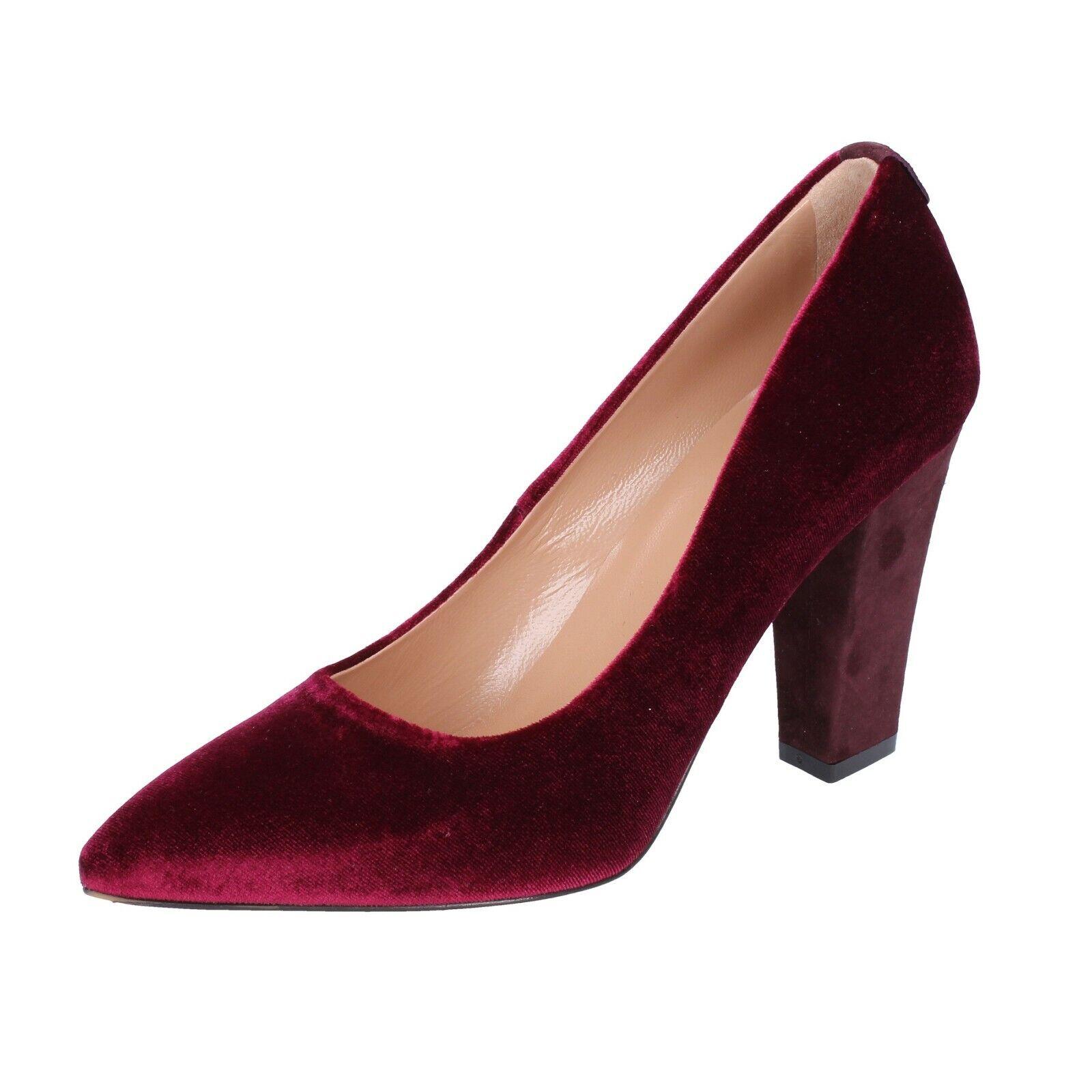 kvinnor skor TWIN -SET 37 37 37 EU Pumpar Burgundy sammet BS258 -37  bekväm