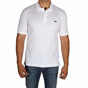 Details about Lacoste Polo Shirt Men's Short Sleeve Slim Fit Petit Pique PH4012-51 001 White