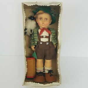 M-I-Hummel-Boy-034-Seppl-034-Rubber-Doll-1700-Series-2-W-Goebel-Germany-Vintage