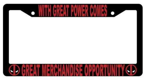 Black With Great Power Comes Great Merchandise Opportunity License Frame 1799