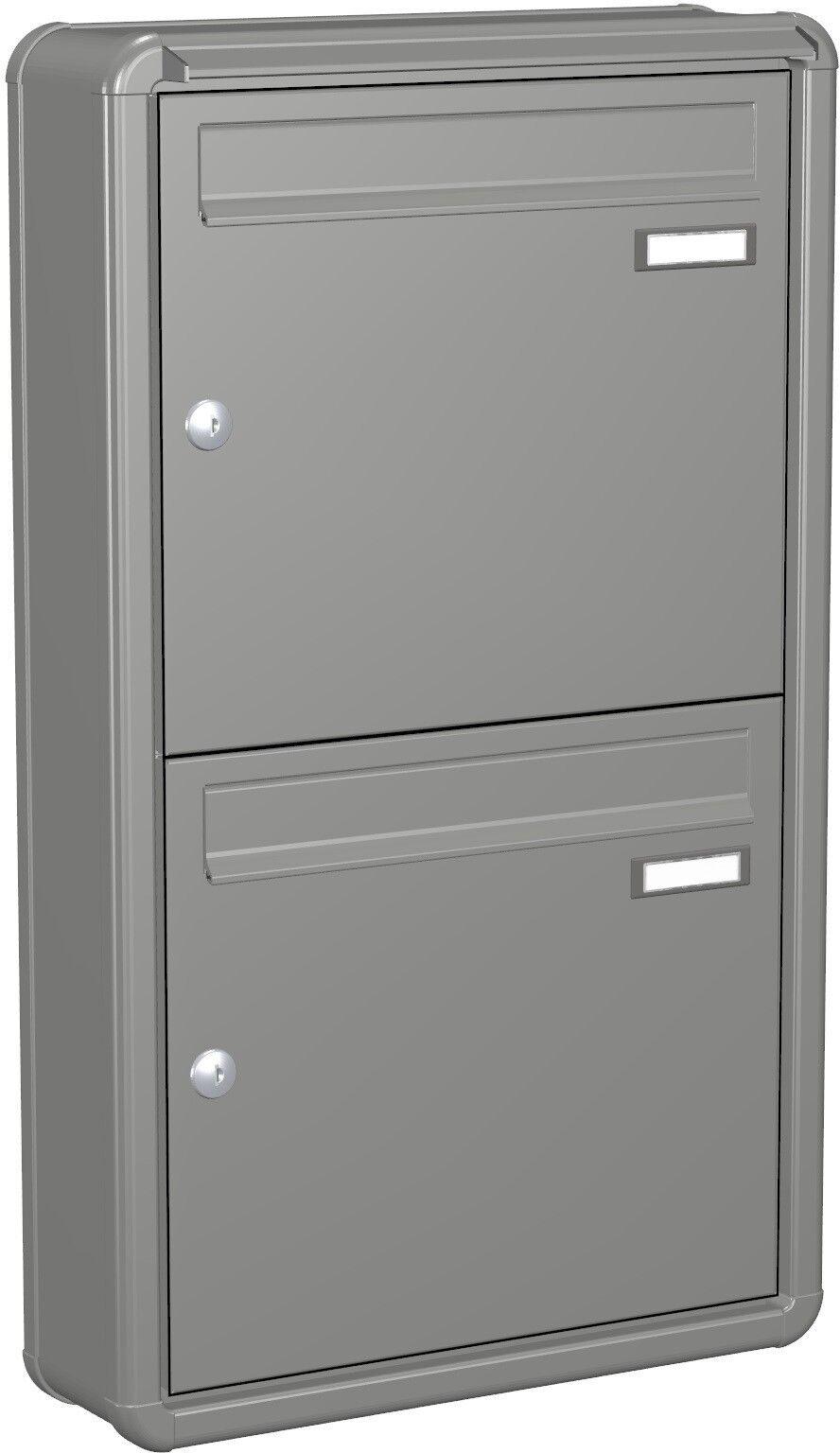 Doppelbriefkasten Aufputz 2er Briefkastenanlage Postkasten Farbauswahl APH102