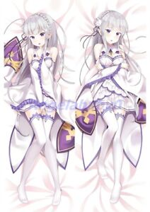 New Re:Zero Dakimakura Emilia Anime Hugging Body Pillow Cases Covers