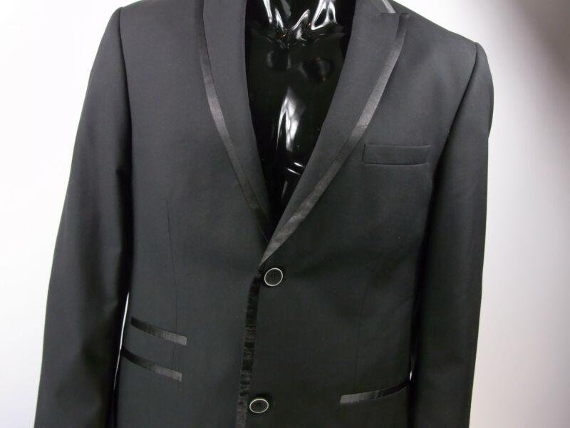 Anzug Herren John Devin Schwarz Größe 98 56, 48 Top Mode