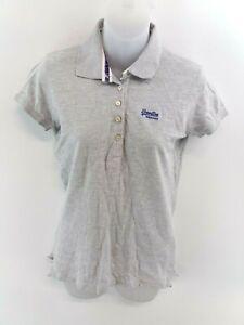 Haut-femme-SUPERDRY-Polo-Shirt-M-Medium-Coton-Gris
