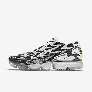 0d4a984f8f60 Nike Air Vapormax FK Moc 2 ACRONYM Black White MENS Size 4.5 AQ0996 ...