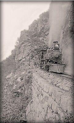 Railroad locomotives Train 1890 Photograph antique vintage wall decor Photo