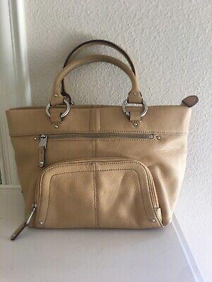 Tignanello Tan Pebbled Leather Purse