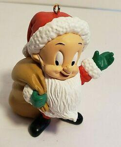 Vintage 1993 Elmer Fudd Hallmark Resin Ornament with Box Looney Tunes