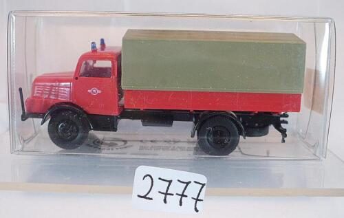 Brekina 1//87 71501 IFA s 4000-1 camions pick-up//bâche pompiers neutre OVP #2777