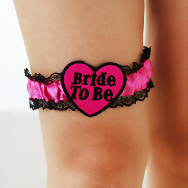 BRIDE TO BE GARTER Girls Hens Night Wedding Shower Bachelorette Party TOP
