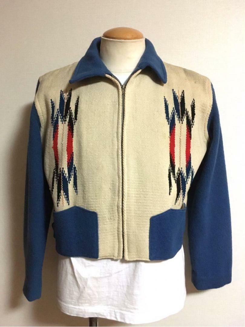 Ganscraft Vintage Chimayo Jacket Turquoise blue x… - image 3