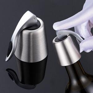 BG-AG-Bottle-Stopper-Reusable-Stainless-Steel-Plug-Vacuum-Cap-Red-Wine-Sealed