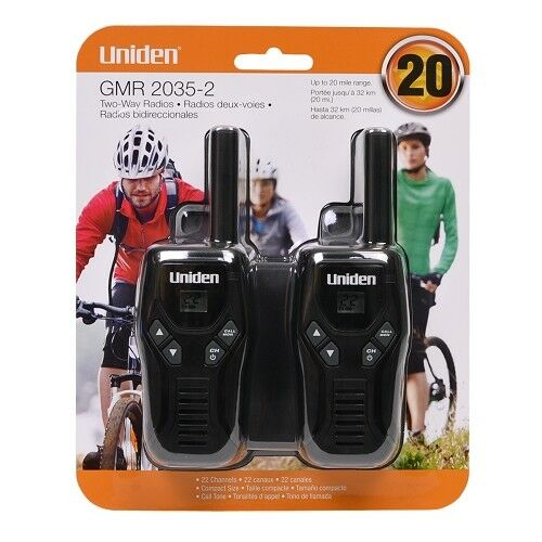 Uniden GMR2035-2 22 Channel 20-Mile FRS//GMRS Two-Way Radio 2PK