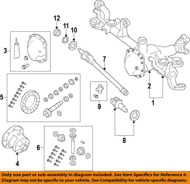 jeep chrysler oem 07-09 wrangler front-axle housing 68017174aa