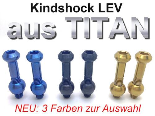 2 Schrauben//Bolzen aus TITAN für VarioSattelstütze 43/% leichter KIND SHOCK LEV