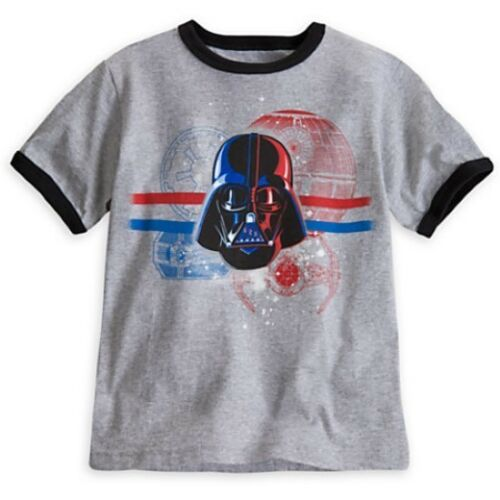 Details about  /NWT Disney Store Star Wars Darth Vader Ringer Tee T-Shirt Shirt Boys XS 4 4T
